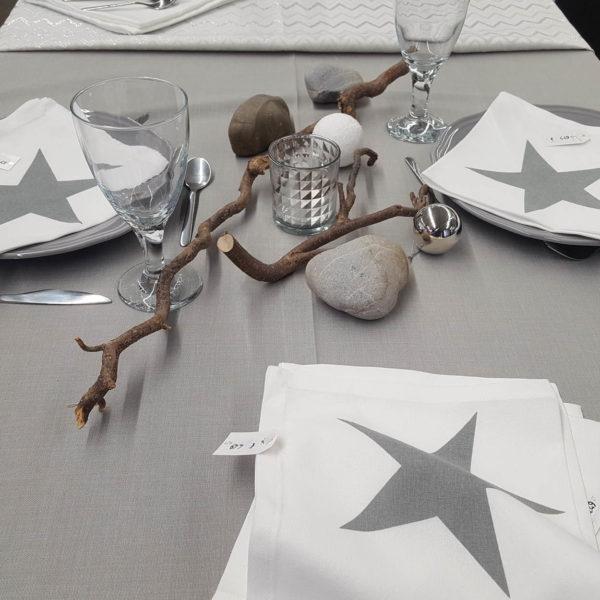 Tischwäsche grau 1