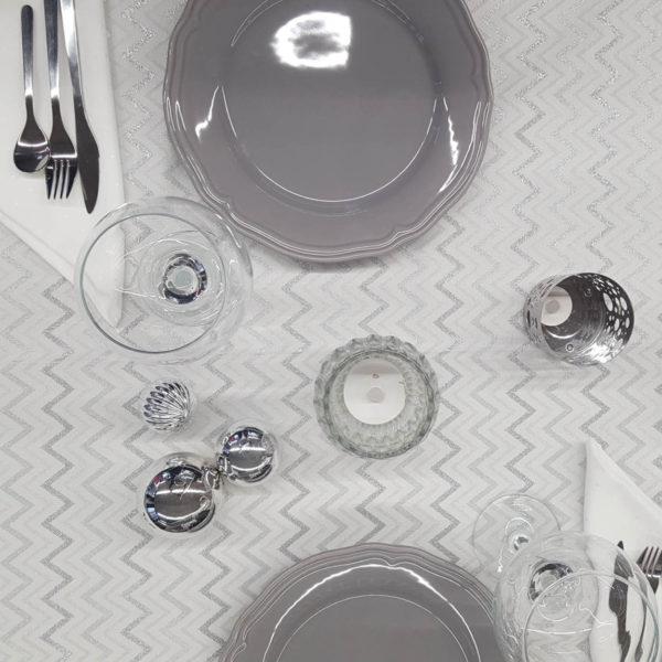 Tischwäsche grau 2
