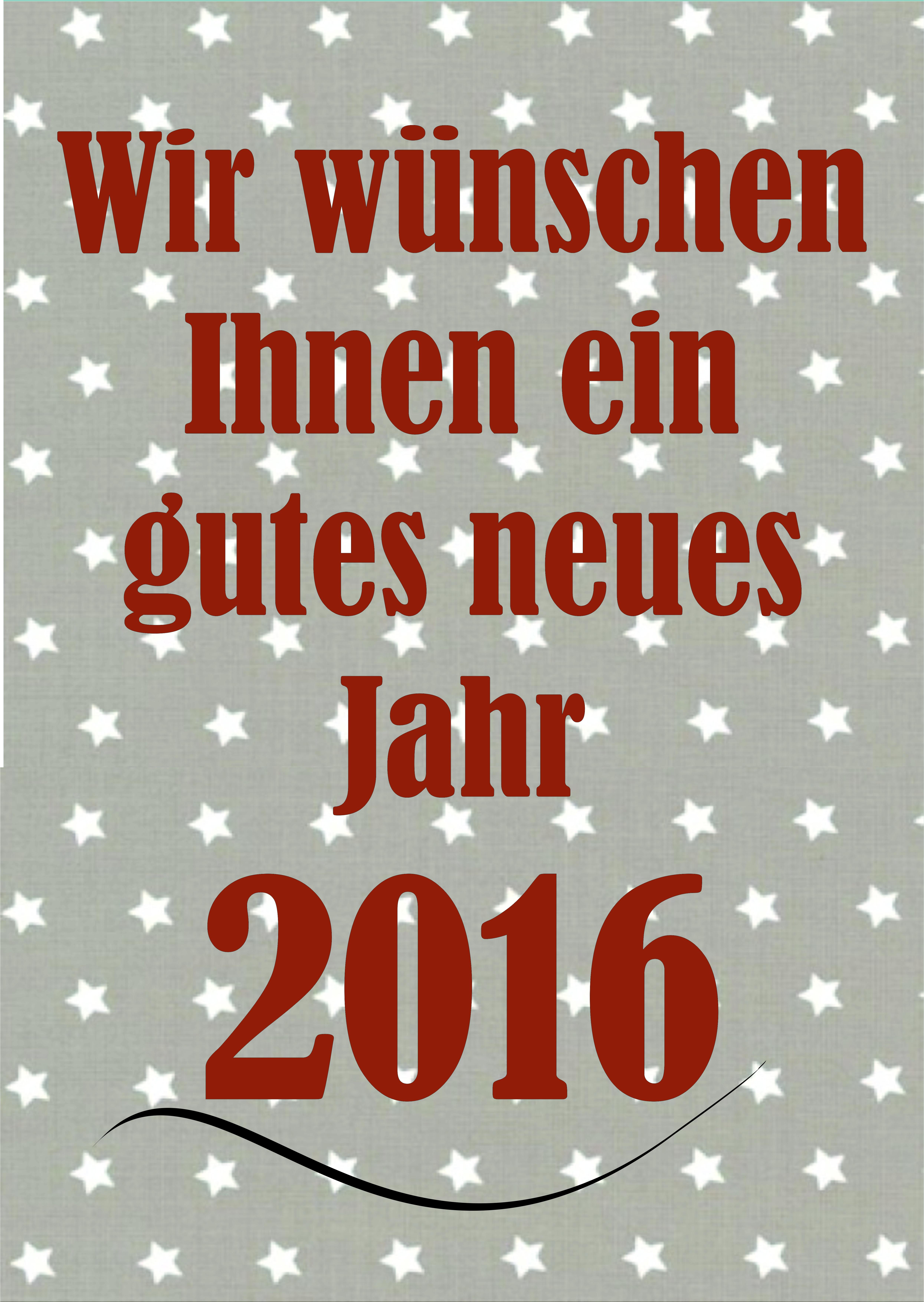 Gutes neues Jahr 2016