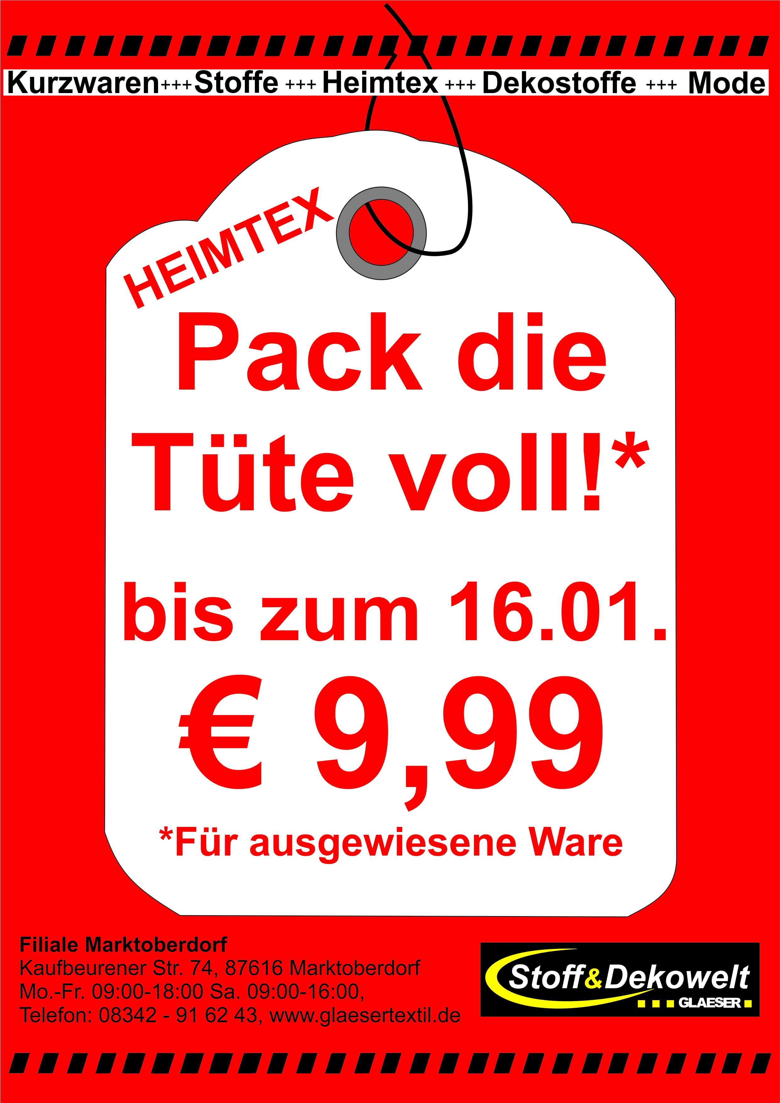 Pack die Tüte voll! 9,99€ Marktoberdorf